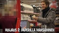 Huijarit maksavat rahan sijasta tyhjillä papereilla kaupoissa!