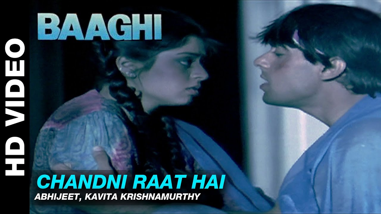 Chandni Raat Hai - Baaghi: A Rebel for Love   Abhijeet & Kavita  Krishnamurthy   Salman Khan & Nagma