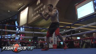 Keith Thurman vs. Robert Guerrero- Guerrero open workout-MGM Grand