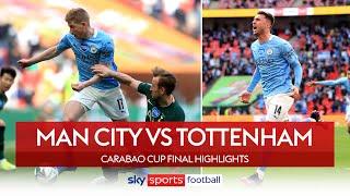 Laporte heads winner in Carabao Cup final! | Man City 1-0 Tottenham | League Cup Final