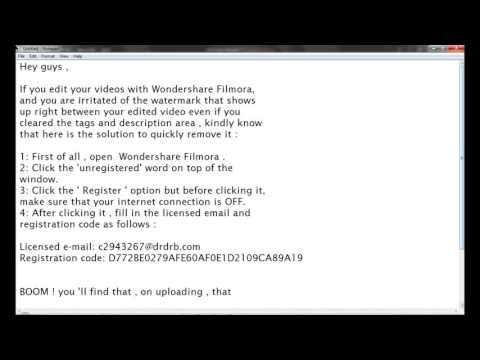 How To : Remove Wondershare Filmora Watermark From Uploaded Video ( FREE !!!)