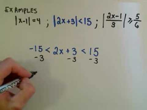 Solving Linear Absolute Value Equations And Inequalities Youtube