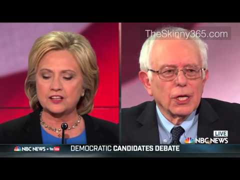 2016 NBC Democratic Debate - Hilary Clinton About Bernie Sanders Stance On Health Care