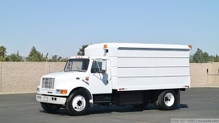 1997 International 4700 14' Chip Dump Truck