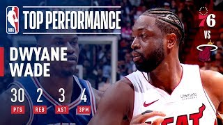 Dwyane Wade Puts On A Show In Final Home Game | April 9, 2019