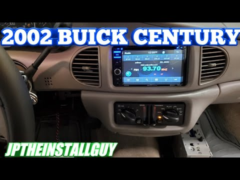 2002 Buick century radio removal and double din install