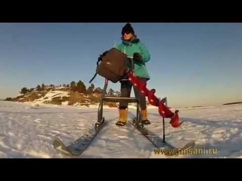 Финские сани MOBIKICK в России - YouTube