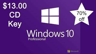 Windows 10 Professional Cd Key for $13.00
