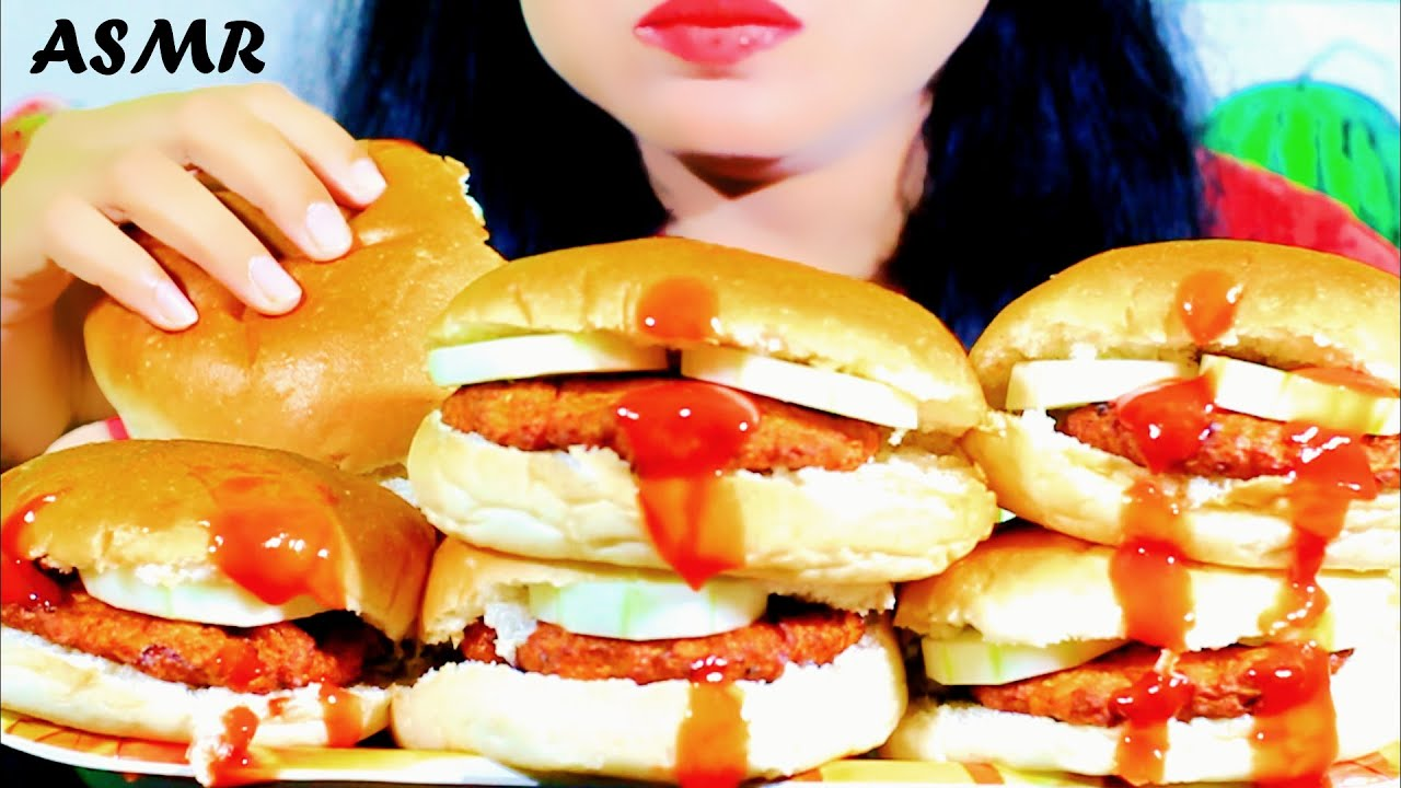 asmr mcdonalds burger king whopper mukbang eating sounds