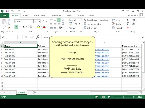 How to do mail merge in Word for personalized mailout with individual  attachments