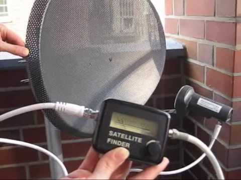 Perfect Satellite Dish Alignment With A Meter Youtube