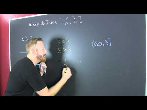 When do I use parentheses or brackets inequalities