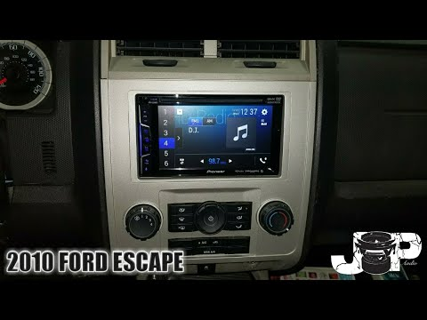 2010 ford escape radio removal / pioneer install
