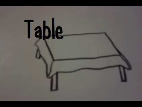 Dessiner Une Table Youtube
