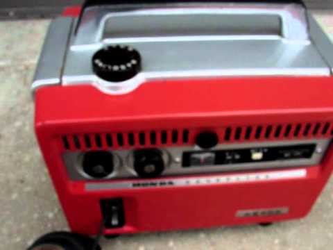 Vintage honda e300 generator running youtube for Honda vs yamaha generator