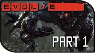 Evolve Gameplay Part 1 - Goliath Monster vs Hunter + Full Squad! (Big Alpha Gameplay)