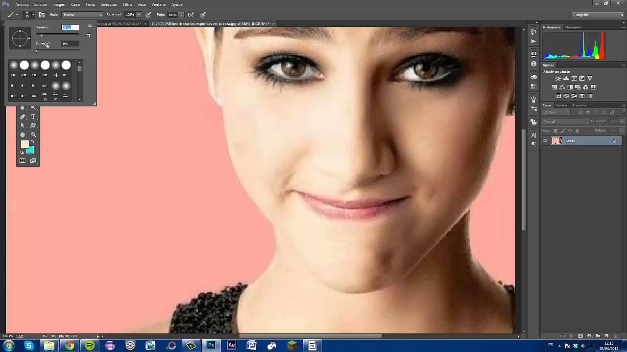 Como quitar manchas del rostro con photoshop