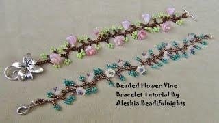 Beaded Flower Vine Bracelet Tutorial