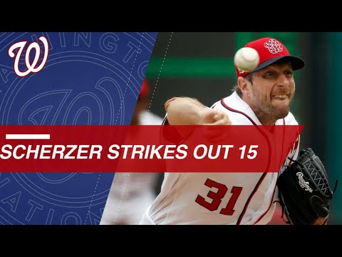 Max Scherzer dazzles as he strikes out 15 vs. Phillies