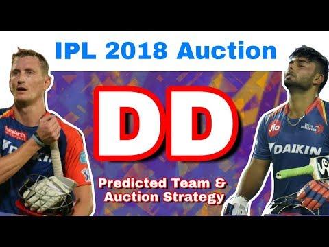 IPL 2018 Auction : DD - Predicted Team & Auction Strategy | Delhi Daredevils