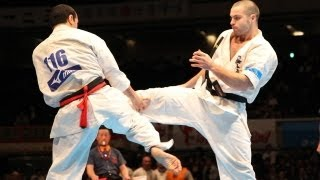 THE 10th WORLD KARATE CHAMPIONSHIP Men 2nd round Artur Navojan vs I...