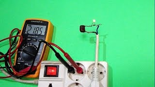 220 VAC Small LED Light Capacitor Circuit
