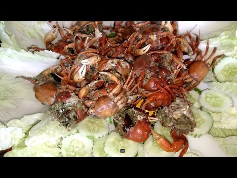 Stuffed crab recipe , laos food