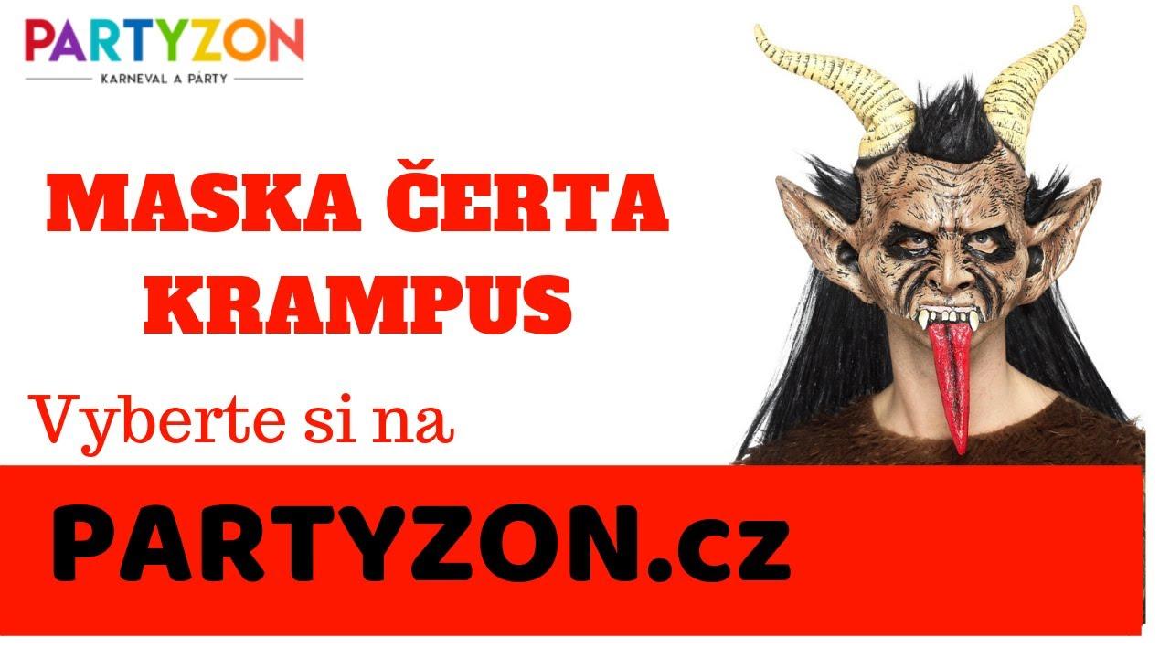 Rakouské masky čertů - čertovské masky na prodej - PARTYZON.cz - YouTube 4670c7f4b0