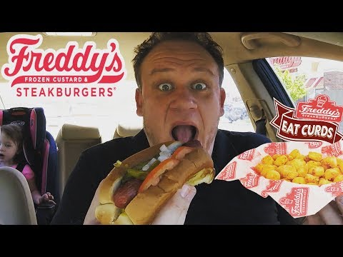 Freddy's ☆CHEESE CURDS & CHICAGO DOG☆ Food Review!!!