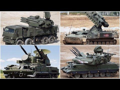 Tor-M2U, ZSU-23-4M4, Tunguska-M-1, Pantsir-S1, Strela-10M3 Short range Air defense systems