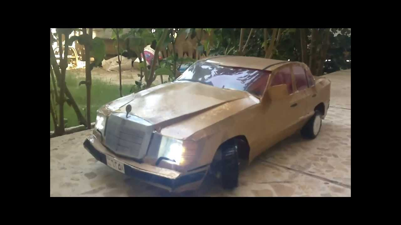 Homemade paper craft 1990 mercedes benz 300e by mohammed for Mercedes benz 1990 e300