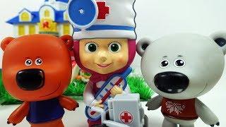 Маша Доктор и Ми-Ми-Мишки Кеша Тучка Лисичка и конфеты - Мультики для детей Игрушки Маша и Медведь