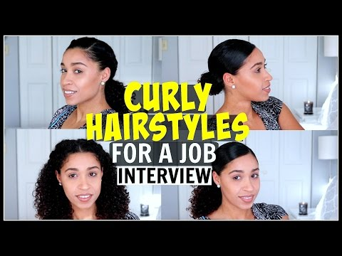 Curly Hairstyles For A Job Interview Natural Hair Youtube