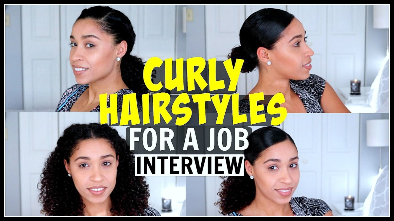 Interview Hair Styles: Curly Hairstyles For A Job Interview