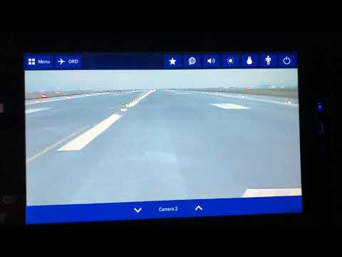 Take-Off from Copenhagen on in-flight entertainment screen of SAS Airbus A330 in Business Class