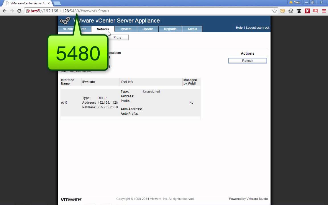 Changing the ip of vcenter server appliance vcsa youtube changing the ip of vcenter server appliance vcsa xflitez Images