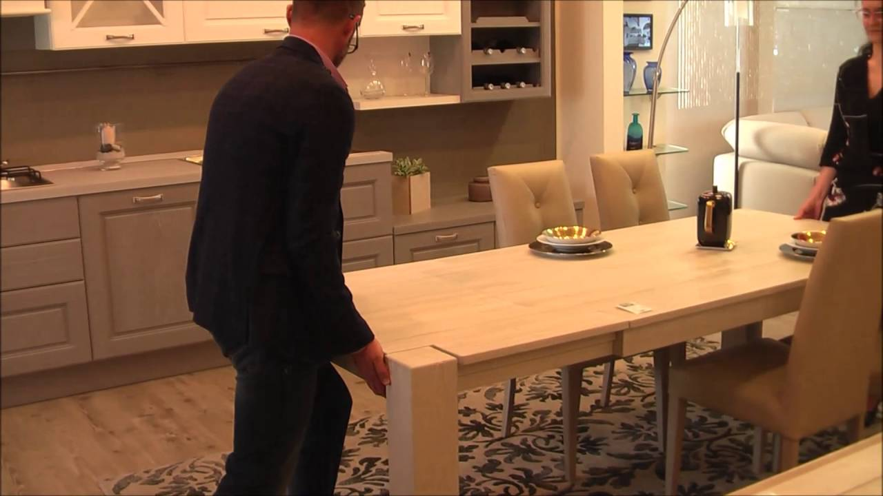 I meccanismi di apertura dei tavoli allungabili - YouTube