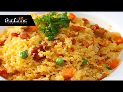 Cách nấu cơm rang thập cẩm - Sunflowertv.net
