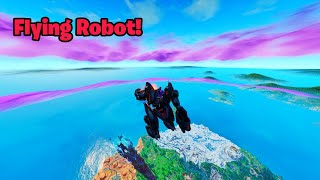 Make your ROBOT FLY in fortnite (Flying B.R.U.T.E glitch)