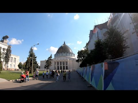 ⁴ᴷ⁵⁰ Cycling Moscow: From Botanicheskiy Sad Metro Station To VDNKh And Botanicheskiy Sad