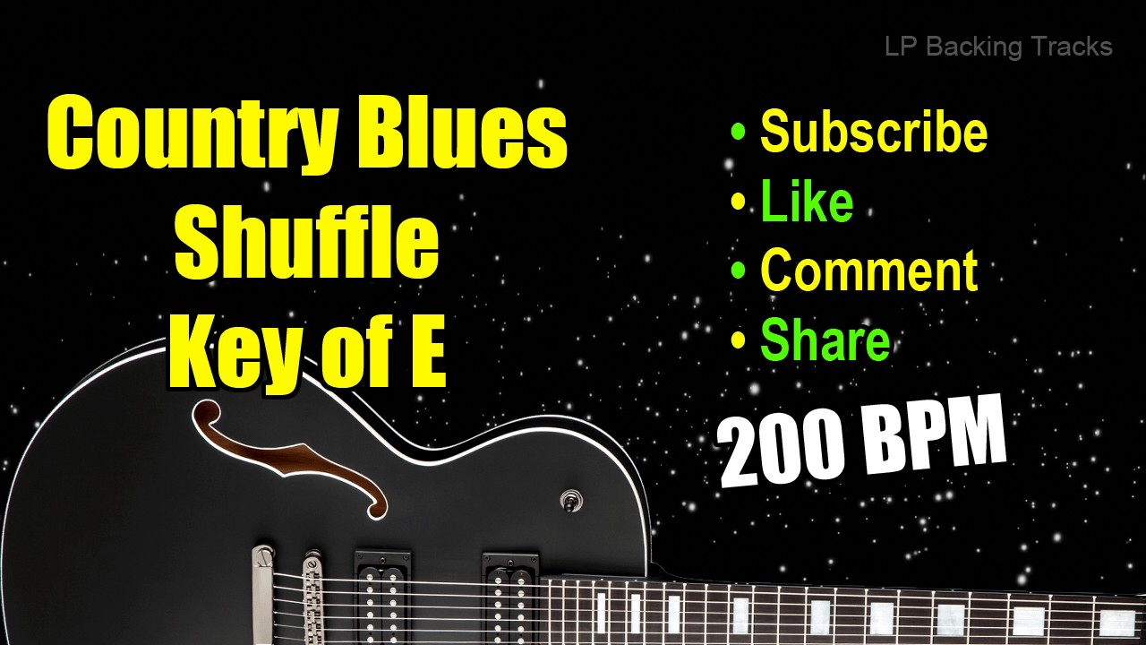 200 BPM Blues in E Country Blues Shuffle Backing Track
