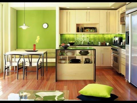 Зеленые обои в интерьере квартиры