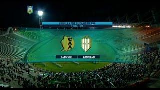 Fútbol en vivo.  Aldosivi - Banfield. Liguilla Pre Sudamericana. FPT 2015.