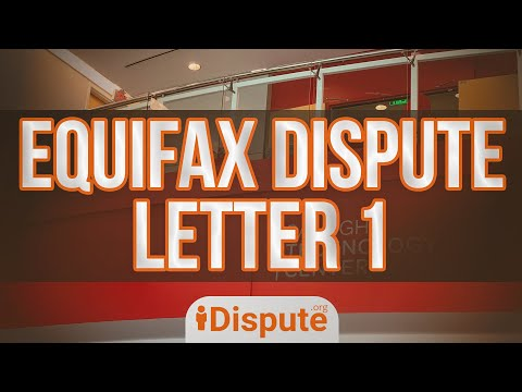 Equifax Professional Dispute Letter, Notice Of Dispute Equifax LETTER 1 - Credit Repair | IDispute
