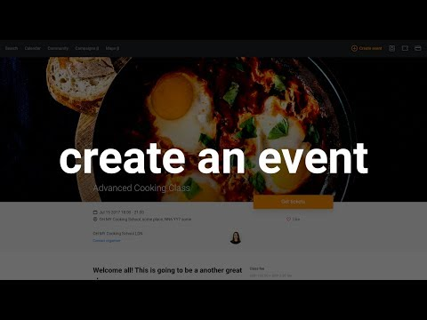 Creating an event in under 5 minutes