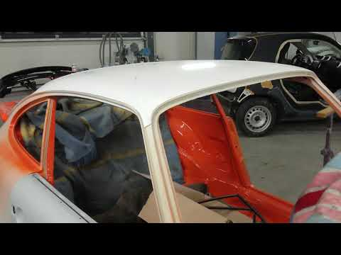 Porsche замена железной крыши на пластиковую.