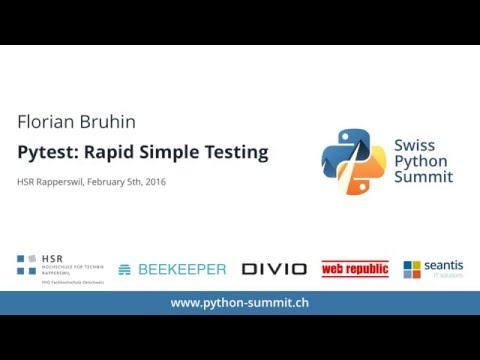 Image from Florian Bruhin – Pytest: Rapid Simple Testing – SPS16