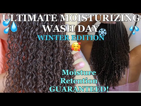The ULTIMATE Wash Day Routine For MOISTURE RETENTION   WINTER Wash Day