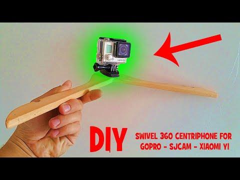 DIY 360 SWIVEL CENTRIPHONE GOPRO 4k - How to make it