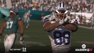 Can Dez Bryant Catch a 99yd TD Pass from the  Worst QB in the NFL? Dez Goes Off! Madden 16 Gameplay